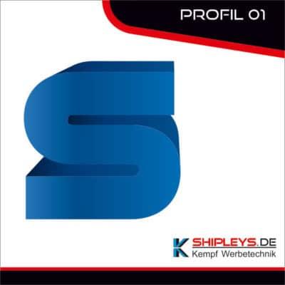 shipleys - Kempf Werbetechnik - Profilbuchstaben - P01 - unbeleuchtet