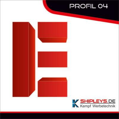shipleys - Kempf Werbetechnik - Profilbuchstaben - P04 - unbeleuchtet