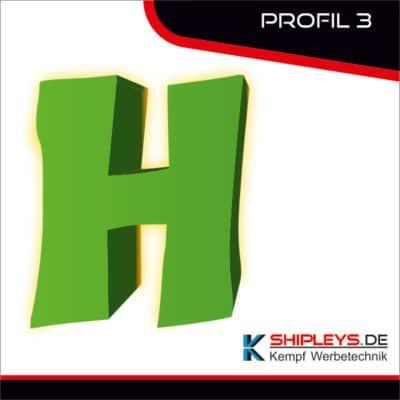 shipleys - Kempf Werbetechnik - Profilbuchstaben - P3 - mit LED beleuchtet