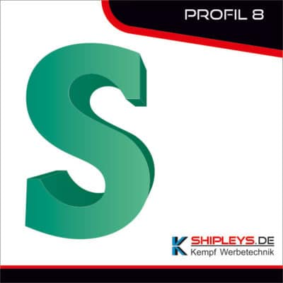 shipleys - Kempf Werbetechnik - Profilbuchstaben - P8 - mit LED beleuchtet